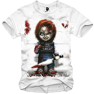 b0ac4b3f4d6 Amazon.com  E1SYNDICATE T-SHIRT CHUCKY GHOSTBUSTERS CRITTERS JAWS ...