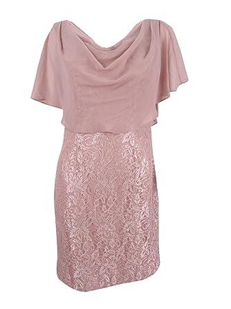 6878d9c9cc56 Amazon.com: Jessica Howard Women's Draped Capelet Lace Dress (10 ...