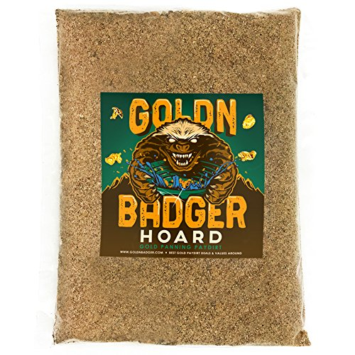 (Goldn Badger Gold Paydirt 'HOARD' Panning Pay Dirt Bag – Gold Prospecting Concentrate)