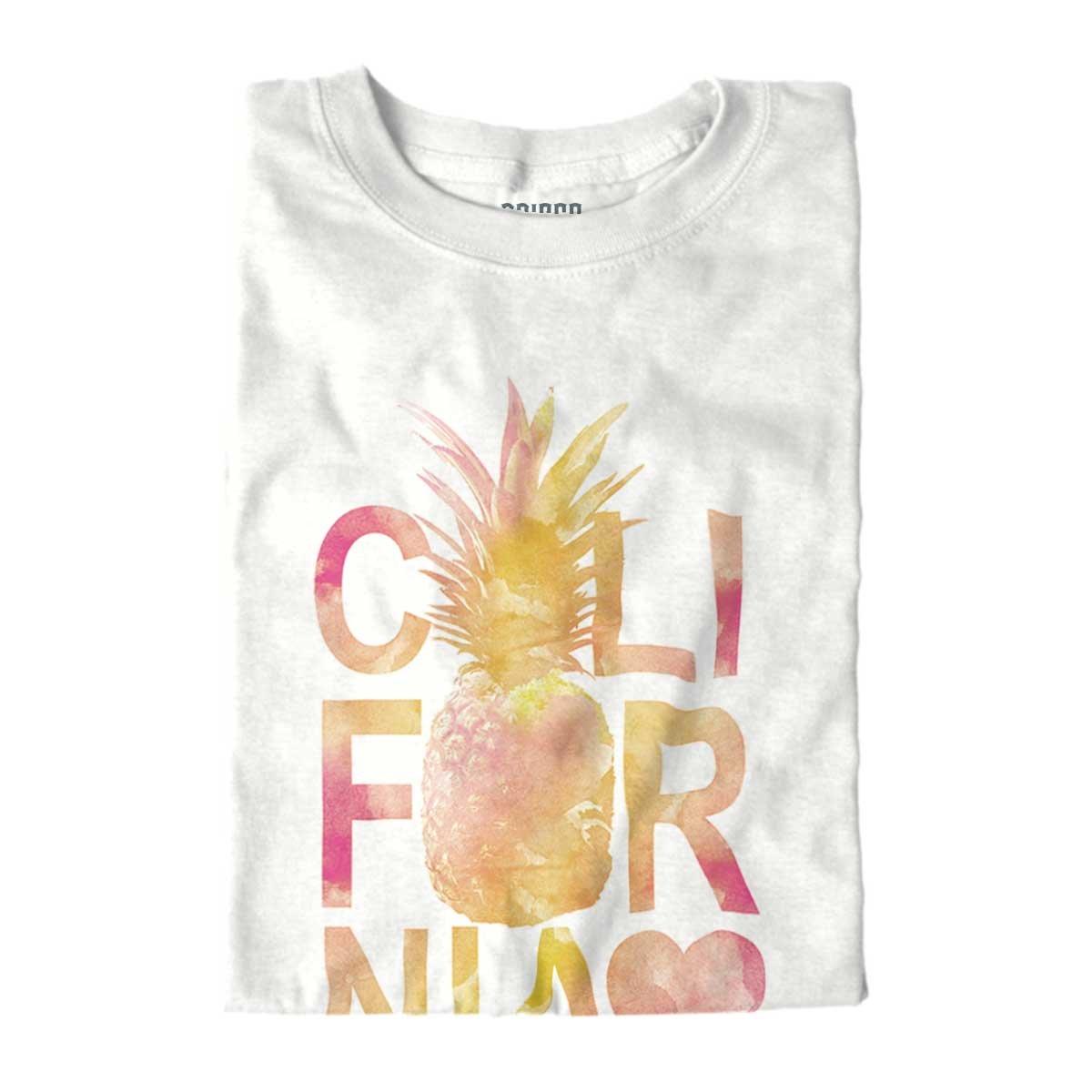 brisco marcas California amor corazón piña Costa Oeste Cali Estados Unidos Fashion juventud camiseta - Blanco -: Amazon.es: Ropa y accesorios