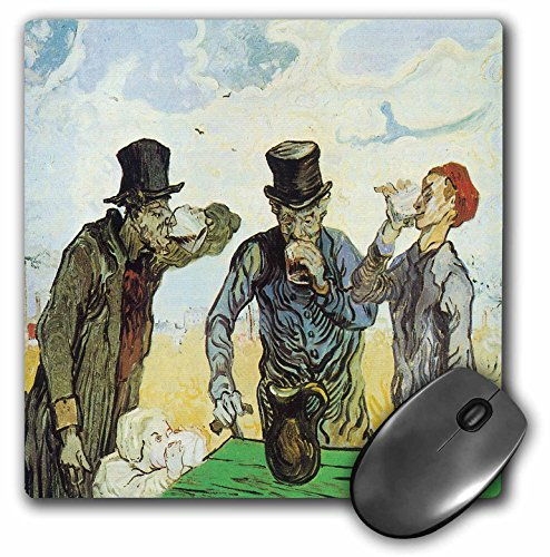 (The Drinkers by Vincent Van Gogh - Mouse Pad, 8 by 8 inches (mp_128163_1))