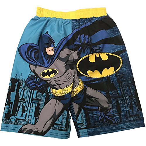 Toddler Boys Blue Batman Graphic Swim Trunks UPF 50+ (3T)