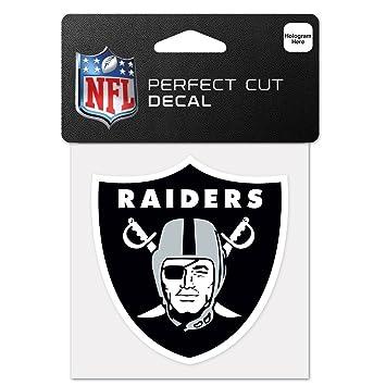 Wincraft NFL Oakland Raiders 63061011 - Adhesivo de corte perfecto, 10 x 10 cm, color negro: Amazon.es: Deportes y aire libre