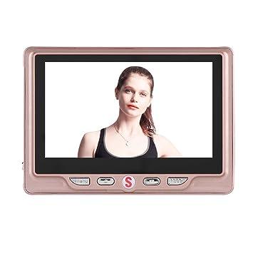 VBESTLIFE Inteligente Timbre Video para Puerta,Visual Timbre Digital con Grabación,24 Horas Detección