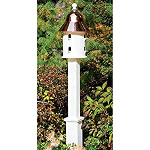 Good Directions Lazy Hill Farm Designs 999136 Boxford Vinyl Post for Bird Houses, 104-Inch, White