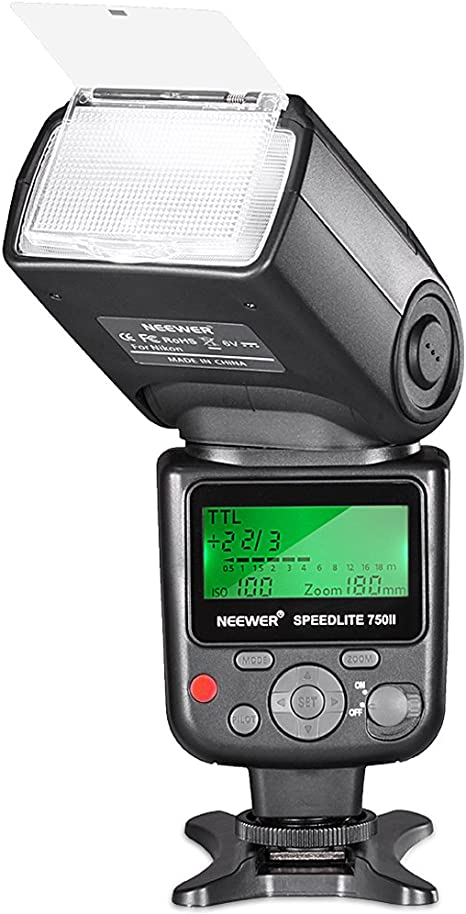 Neewer 750II TTL Flash Speedlite para Nikon D7200 D7100 D7000 ...