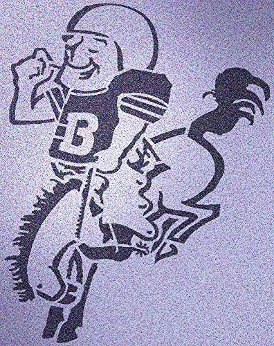 Denver Broncos Vintage 1960-61 Stencil Mylar Football Mancave Signs Sport ()