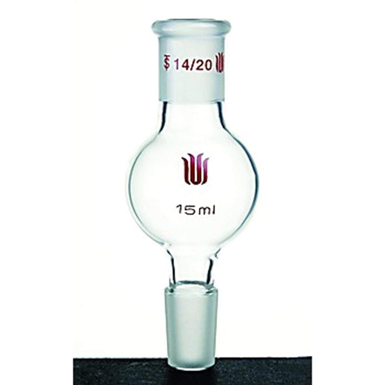 5 ml 25 mm Bulb OD 80 mm Height Kemtech America D281005 Synthware Kugelrohr Distilling Bulb 14//20 Joint