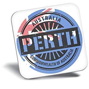 Destination Vinyl ltd Awesome Fridge Magnet - Perth Australia Australian Flag 6115