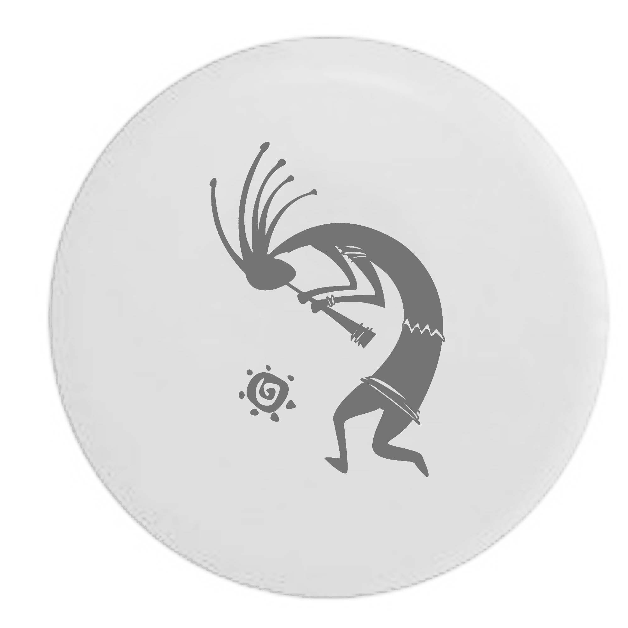 Pike Kokopelli Flute Tribal Sun Trailer RV Spare Tire Cover OEM Vinyl White 30 in by Pike Outdoors