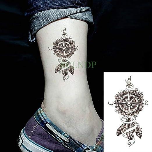 5 Piezas Impermeable Tatuaje Pegatina Animal Lobo león águila ...