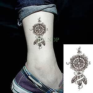 ljmljm 6pcs Impermeable Tatuaje Lobos Fox Lobo Ballena búho ...