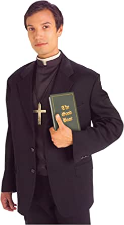 Forum Novelties Men's Priest Costume Shirt Front with Collar