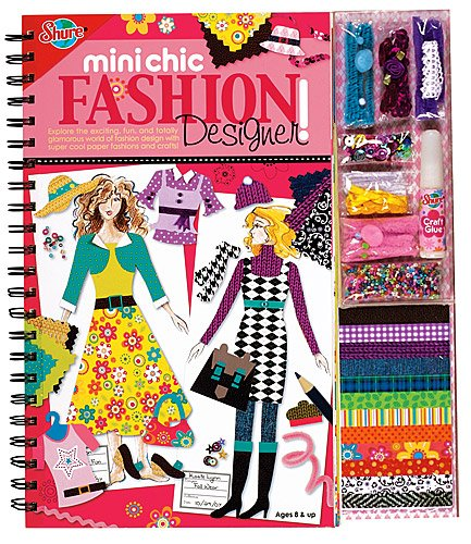 T.S. Shure Mini Chic Fashion Designer Book & Kit
