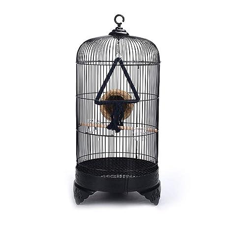 Yuanjiashop Jaula para Loro Jaula de pájaros Ornamental Interior ...