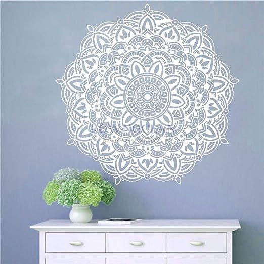 etiqueta de la pared pegatina de pared frases Mandala, yoga ...