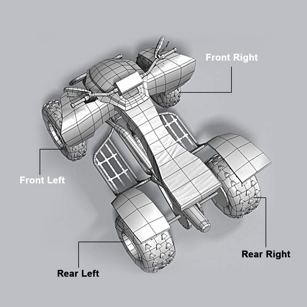 ECCPP CV Axles Rear Left//Right Set for 2008 2009 2010 2011 2012 2013 2014 Polaris Ranger RZR 800 2Pcs