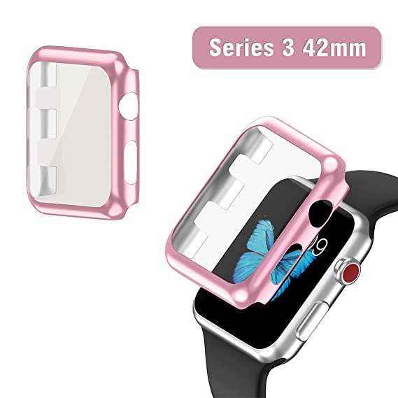 Apple watch series 3 protective case rose gold