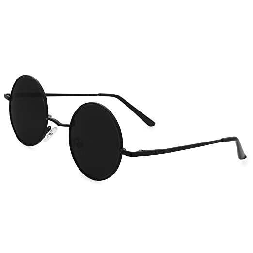 bfb2ac6c126 Galulas Steampunk Glasses John Lennon Style Hipster Vintage Retro Polarized  Sunglasses for Men Women Fashion Round