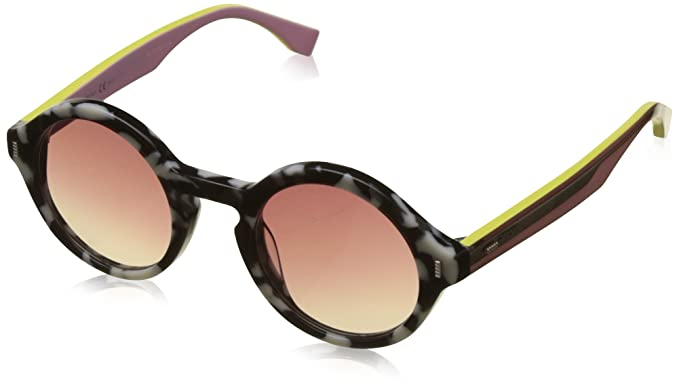 Fendi Damen Sonnenbrille FF 0154/S JD Uds, Schwarz (Lthvna Black/Brown Sf), 54