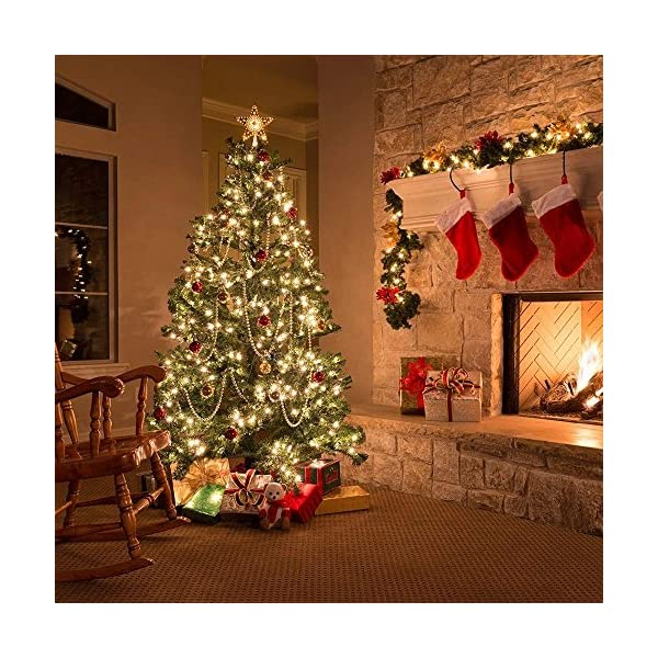 Vindany 2 Pezzi Stringa Luci LED - 33FT Catene Luminose Luci Natalizie USB e Batteria Impermeabile IP65 Fata Luci Decorative da Giardino Filo di Rame Luci Interne per Natale Festa 4 spesavip