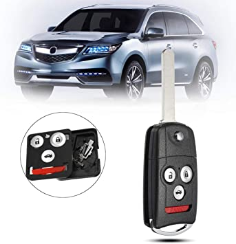 3+1 Buttons Remote Flip Car Key Fob Shell Case Uncut For Honda//Accord//Acura TL