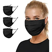 2 Pcs Reusable Face Mask with Filter Pocket Seamless Neck Gaiters for Men Cloth Masks for Nose and Mouth Washable
