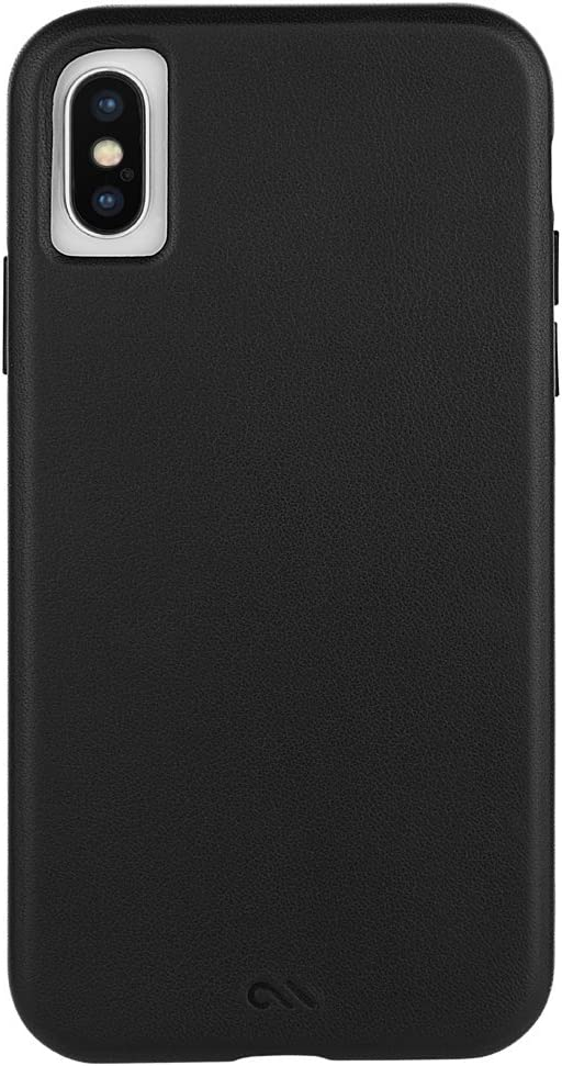 Case-Mate - iPhone X Leather Case - Barely There - Slim Case for Apple iPhone X - Black Leather