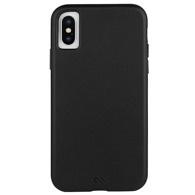 pretty nice 148f5 cf50d Case-Mate - iPhone X Leather Case - Barely There - Slim Case for Apple  iPhone X - Black Leather