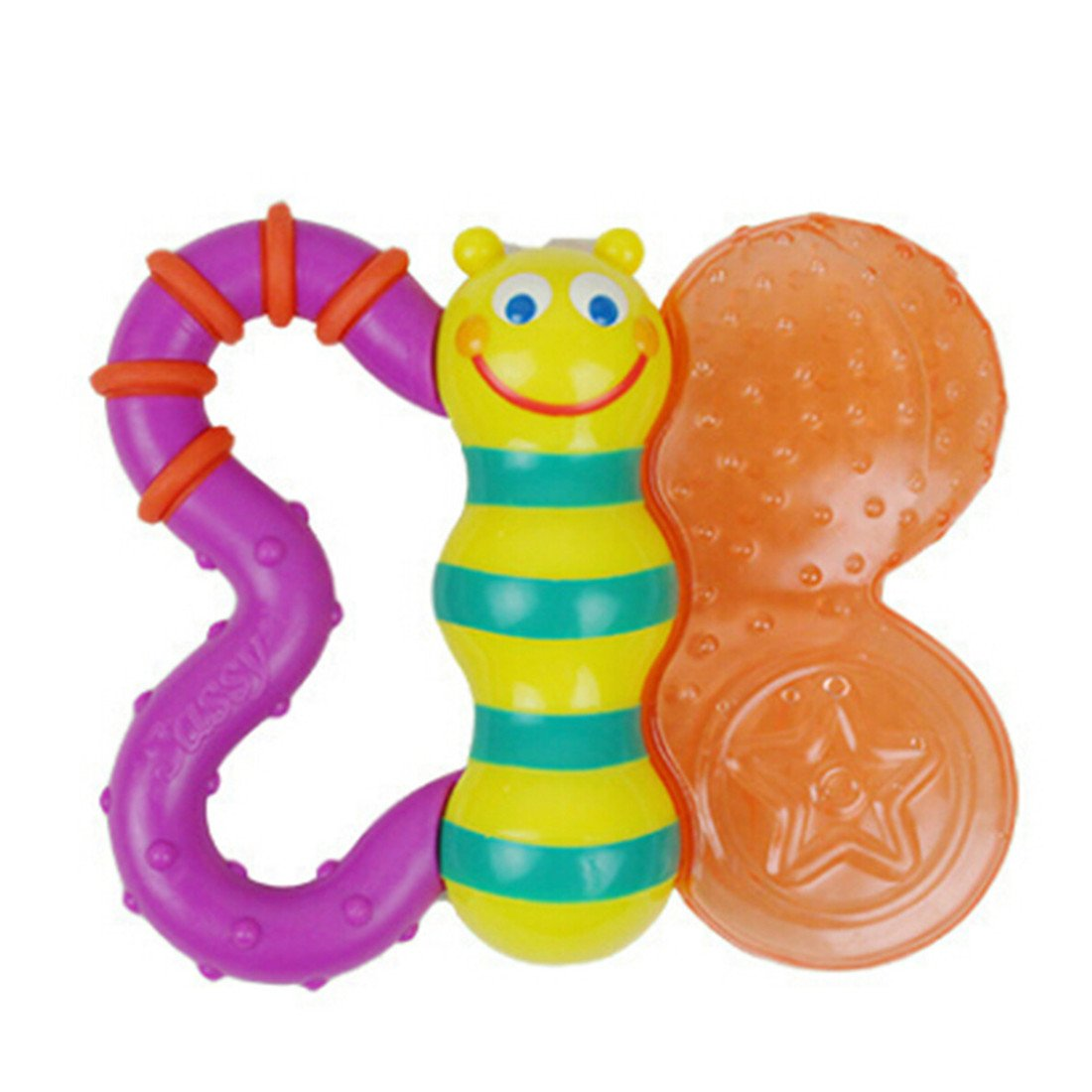 EdtoyカラフルBee赤ちゃん早期教育Toys Rattles柔らかい布手Ringing Toy   B074C569LT