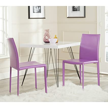 Safavieh Home Collection Karna Modern Purple Dining Chair (Set Of 2)