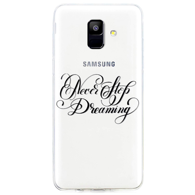 MoreChioce Galaxy A6 2018 Hü lle,Galaxy A6 2018 Hü lle Transparent, Weiche TPU Silikon Handyhü lle Bumper Case Dü nn Muster Clear Crystal Stoß fest Schutzhü lle kompatibel mit Samsung Galaxy Galaxy A6 2018