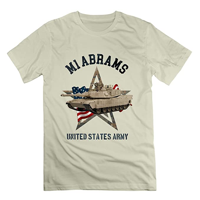 b3c6d7f8 Diy United States Army T Shirts Print M1 Abrams for Mens Military Lover  Short Sleeve Top