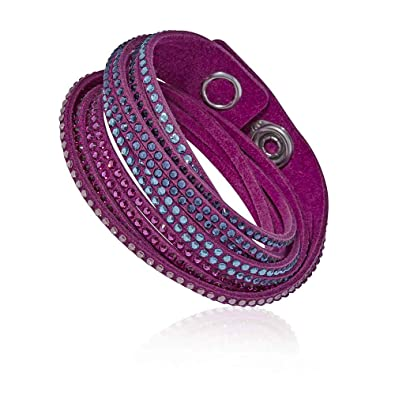 befda0dab Swarovski Slake Fuchsia 2 in 1 Ladies Bracelet 5202465: Swarovski:  Amazon.co.uk: Jewellery