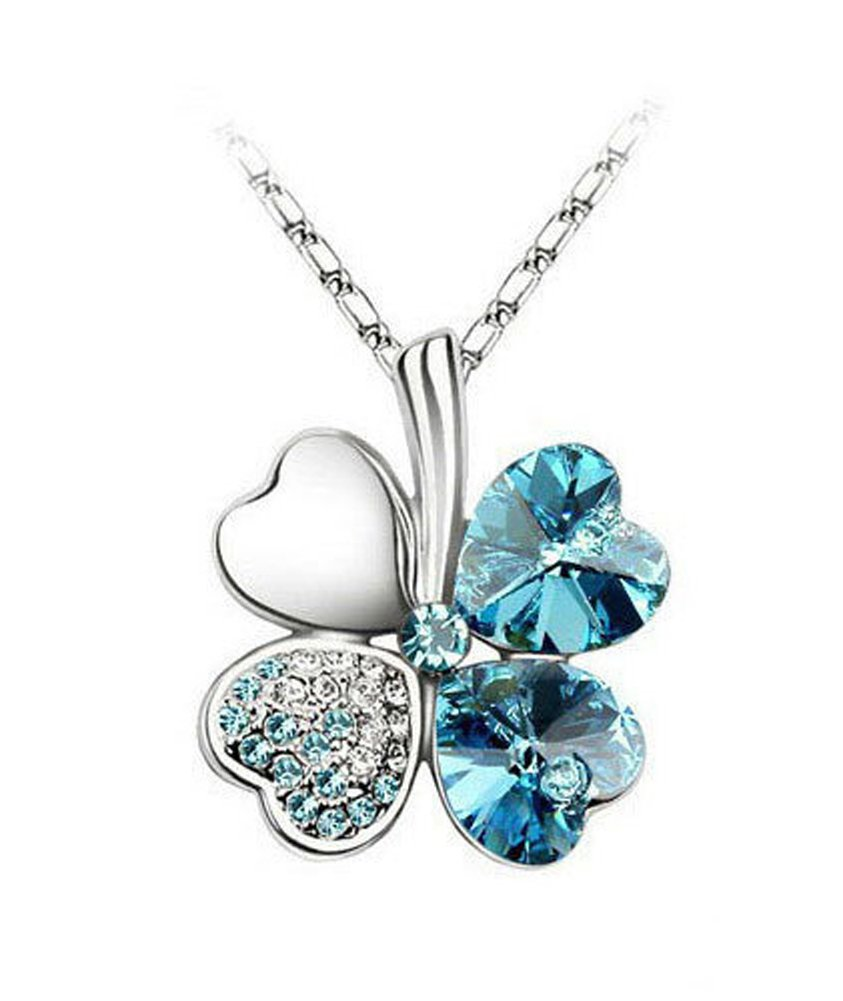 Yonger Elegant Fashion Necklace Jewellery Clover Crystal Pendant Best Gift for Women