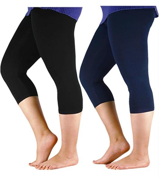001820418e0320 Image Unavailable. Image not available for. Color: Women's Plus Size Ultra  Soft Lightweight Bamboo Fibre Capri Leggings ...