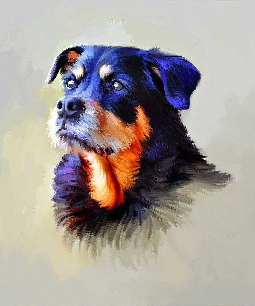 Christmas Gift Custom Portrait Dog Painting - Oil Painting (Individual) Hand Painted Portrait Painting - Photo to Painting
