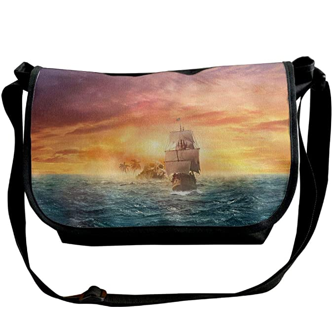 edb41aa614da Amazon.com: Pirate Ship Skull Island Unisex Satchel Bags One ...
