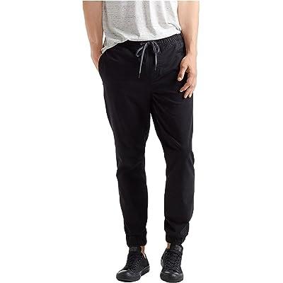Aeropostale Mens Reflex Twill Casual Jogger Pants (Small, 001) at Men's Clothing store