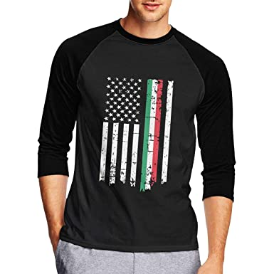 Amazon.com: Camiseta de manga 3/4 para hombre, lisa italiana ...