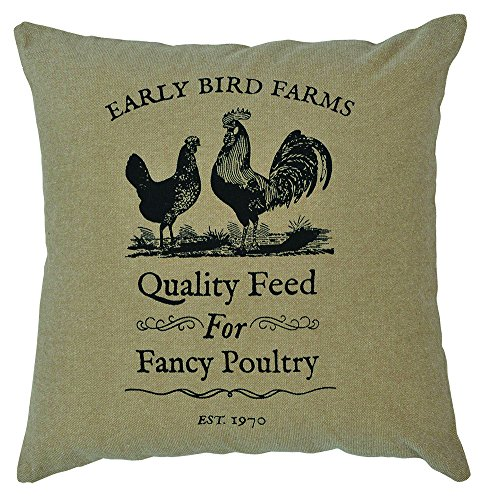 Rooster Toile Pillow - CWI Gifts Fancy Poultry Pillow Cover