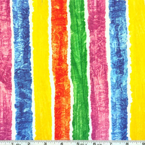 Andover Brown Bear Brown Bear Painted Stripes Multi Fabric by The -