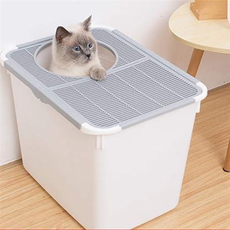 Caja De Arena De Entrada Superior Arenero Cubierto para Gatos ...
