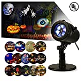 LIGHTESS Christmas Lights Projector Outdoor Indoor Halloween Decorations Waterproof LED Landscape Spotlight for Xmas Theme Party Store Window and Garden, 14 Patterns, UL Listed, YG-FL02