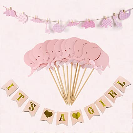 amazon com imagitek baby shower decorations for girl it s a girl