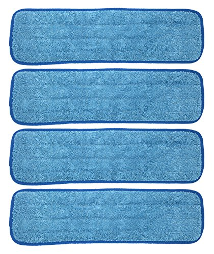 Xanitize Microfiber Replacement Mop Pad, Wet & Dry Home & Commercial Cleaning Refills - Fits 18 and 20 -