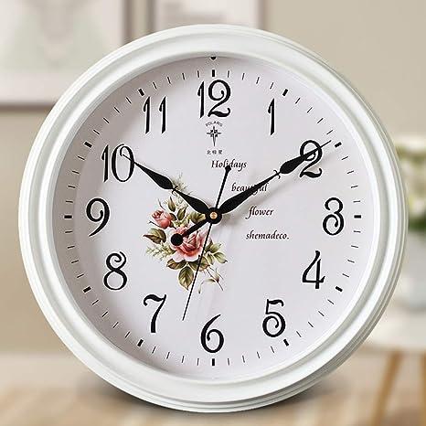 XINGPING Reloj de Pared Relojes Europeos Sala de Estar Mute Reloj de Pared American Wall Charts