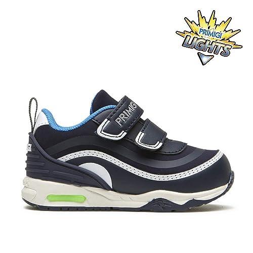 PRIMIGI 2457533 Sneakers Scarpe Baby Primi Passi Blu LUCI LED  Amazon.it  Scarpe  e borse 646762aa2bd