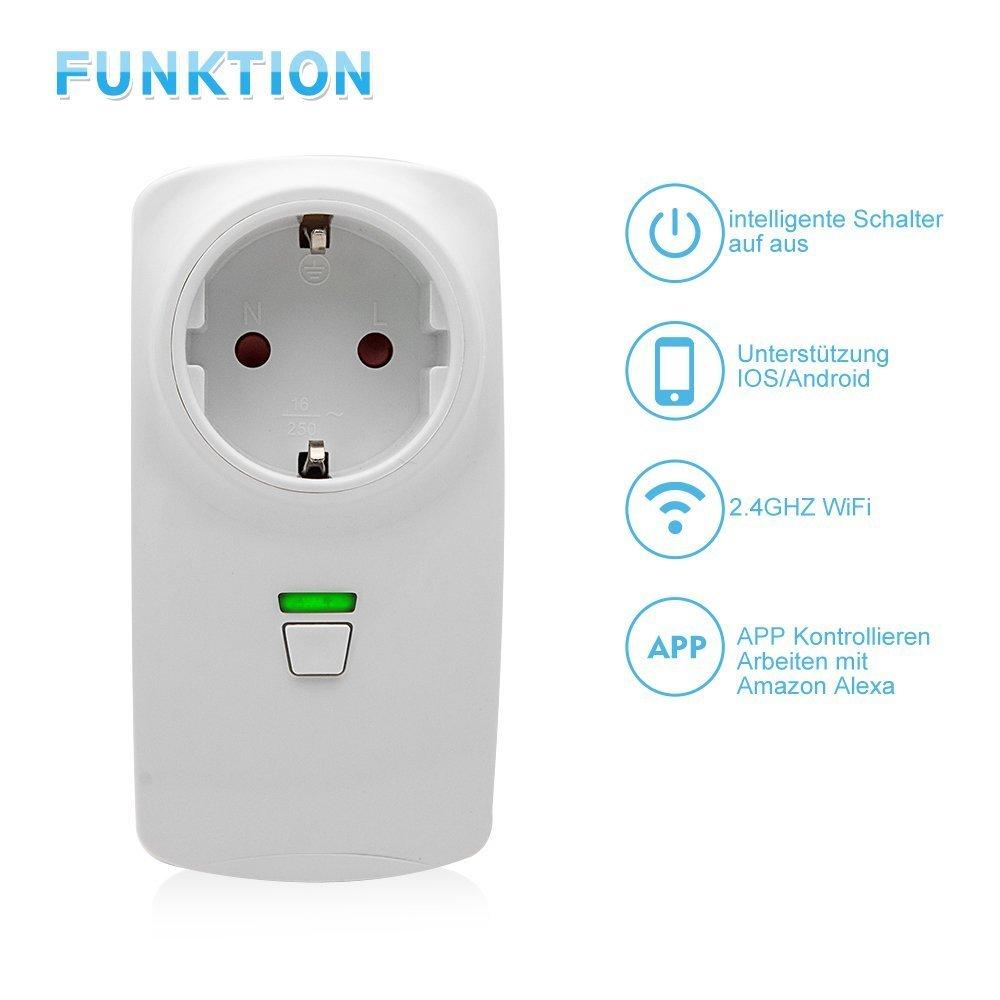 WLAN Steckdose Intelligente Smart Plug Switch mit Fernsteuerung ...