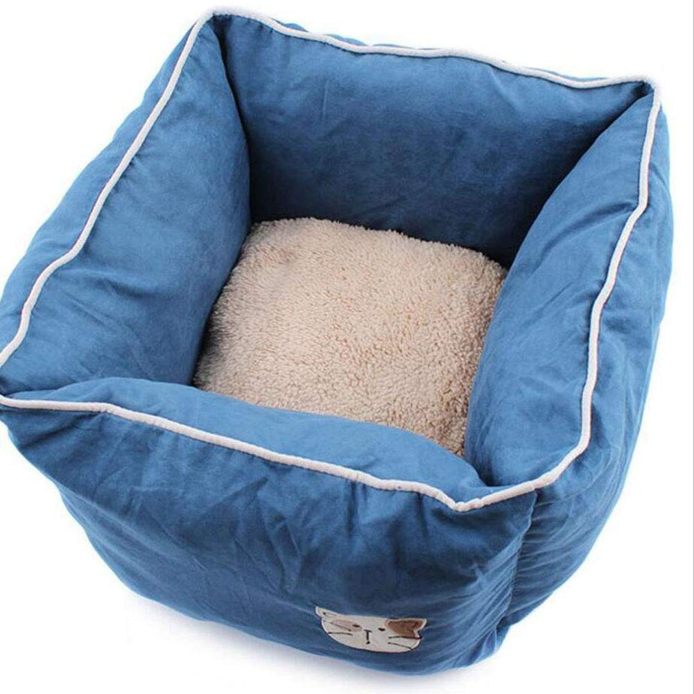 bluee Cat Supplies Cat Sleeping Bag Cat Bed Removable Pet Nest Dog House Cat House (color   bluee)